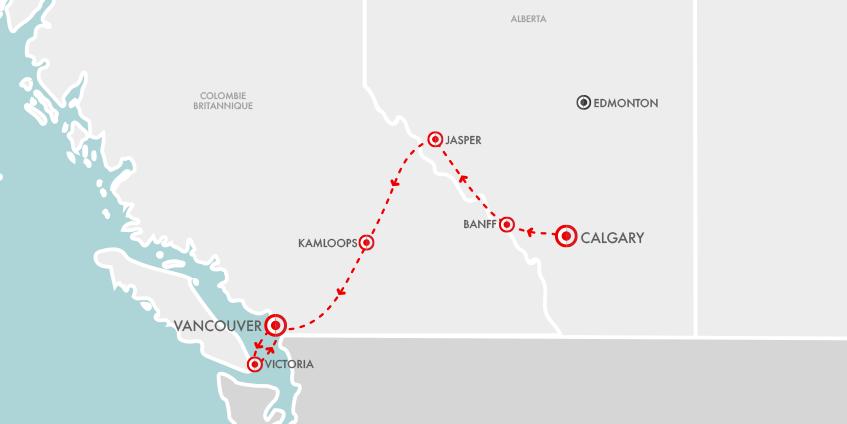 Carte Rocky Canada