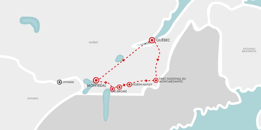 Carte Cantons Est Québec