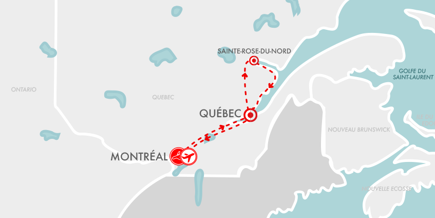 Carte Fjord Saguenay