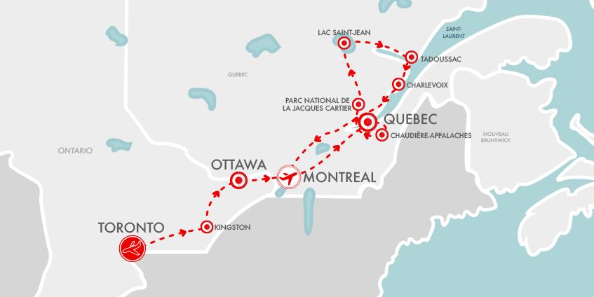 Carte Est Canada Authentique