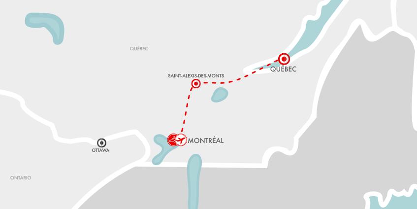 Carte Hiver Lac Blanc Québec
