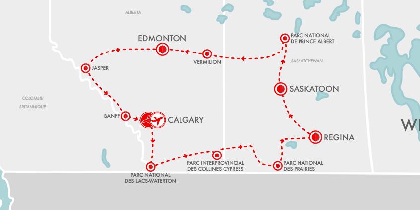 Carte Alberta Saskatchewan