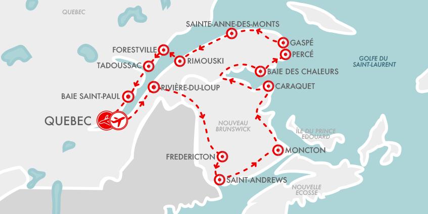 Carte Magie Acadie Gaspésie