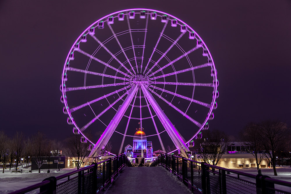 Visiter Montreal Grande Roue Nuit