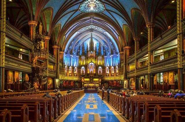 Visiter Montreal Basilique Notre Dame Intérieur