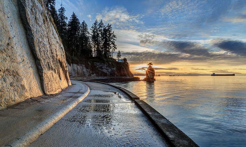 Coucher de soleil à Vancouver